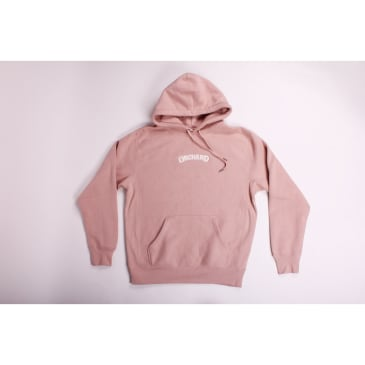 Orchard Cross Weave Hoodie Soft Pink Pearl Text Emb