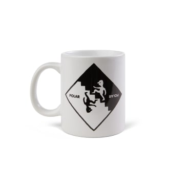 Polar Skate Co Staircase Mug - White / Black