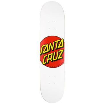 Santa Cruz Classic Dot White Skateboard Deck - 8.00