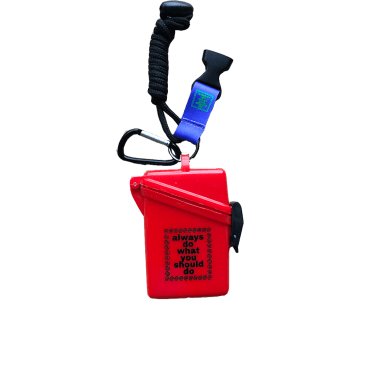 always do what you should do - red lanyard case