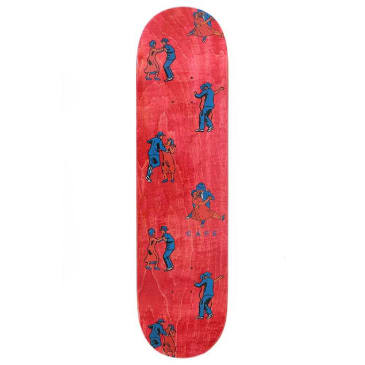 Skateboard Cafe Dance All Over Deck - Red