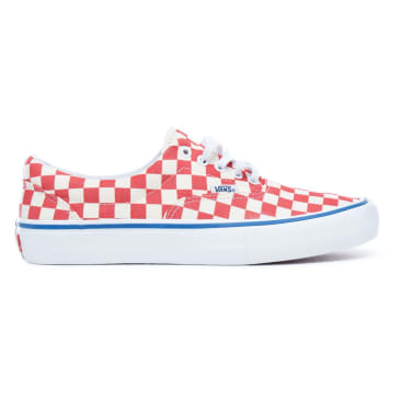 Vans Checkerboard Era Pro Skateboard Shoes - Rococco Red/Classic White