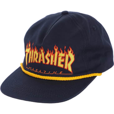 Thrasher - Flame Rope Hat ADJ Navy