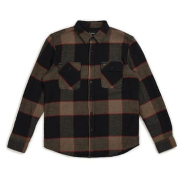 Brixton - Bowery L/S Flannel Shirt - Heather Grey / Charcoal