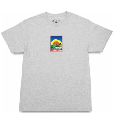 Quartersnacks Track Club Postcard T-Shirt - Ash Grey