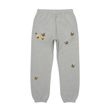 """FELT- """"BUTTERFLY EMBROIDERED SWEAT-PANT"""" (HEATHER GREY)"""