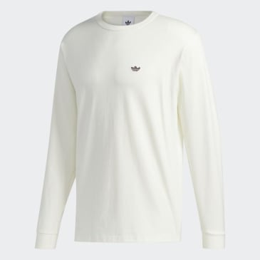 Adidas - H Shmoo Longsleeve T-Shirt - Off White/ Red