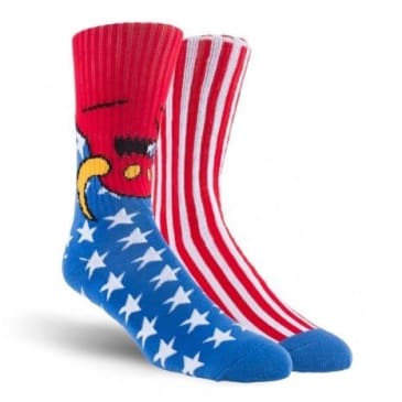 TOY MACHINE AMERICAN MONSTER SOCK RED