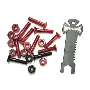 Indy Bolts Phillips (Pk 10 with Tool) Red/Black 1 IN