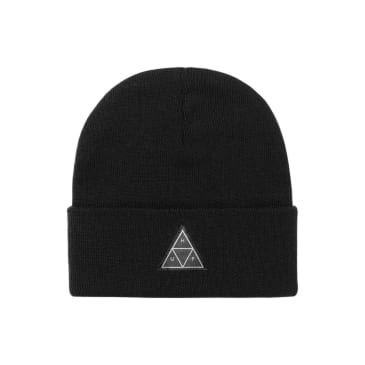 HUF Essentials Triple Triangle Cuff Beanie Black