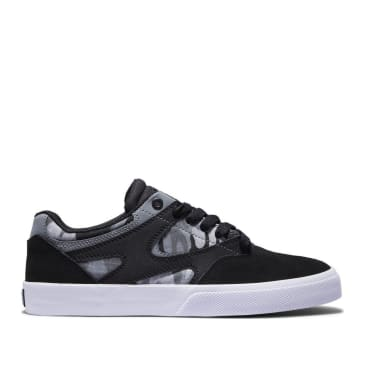 DC Kalis Vulc S Suede Skate Shoes - Black / Charcoal Camo