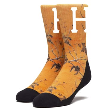 Huf - Digital Real Tree Socks - Woodland Orange