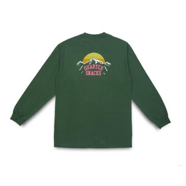 Quartersnacks Mountain Long Sleeve T-Shirt - Forest Green