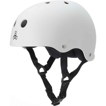 Triple 8 Sweatsaver Helmet (White/Rubber)