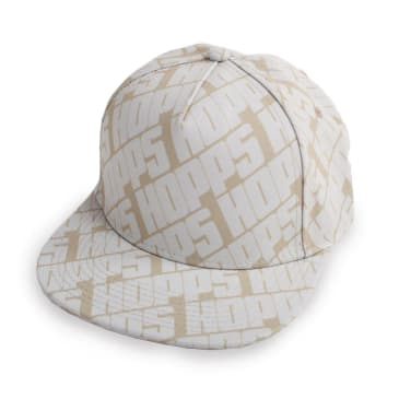 Hopps Skateboarding All Over Snapback Hat Khaki/White