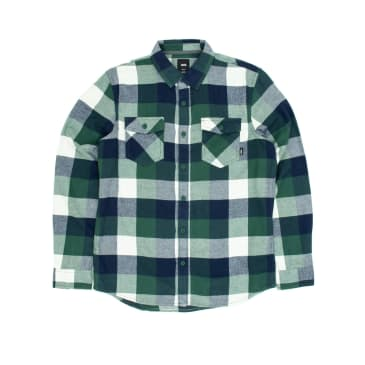 Vans Box Flannel Shirt - Pine Needle/Dress Blues