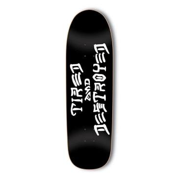 "Tired x Thrasher Destroyed Sigar Skateboard Deck - 9.25"""