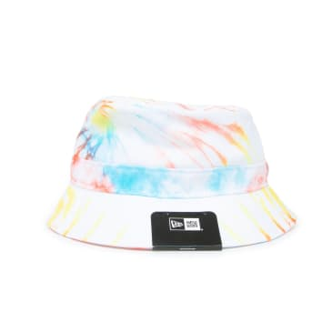 New Era Tie Dye Bucket Hat - White