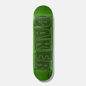 Baker Skateboards Reynolds brand Name Stroke Lime Skateboard Deck - 8.00