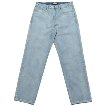 Chrystie NYC Relaxed Fit Denim Pants - Washed Blue