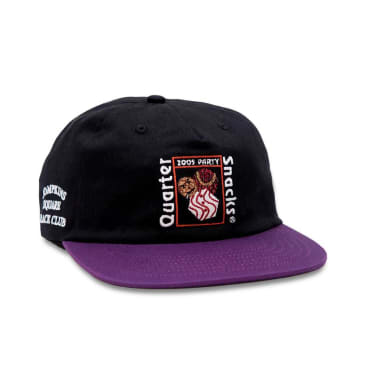 Quartersnacks Party Cap - Black / Purple