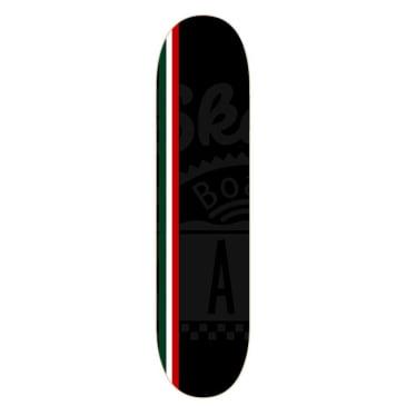 "Skateboard Cafe Italian Embossed Stripe Skateboard Deck - 8"" (Black)"