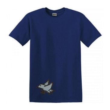 Dear Skating Bird T-Shirt - Blue