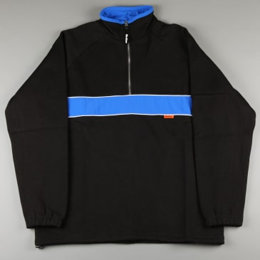 Butter 'Axis' 1/4 Zip Pullover Crew (Black / Royal)