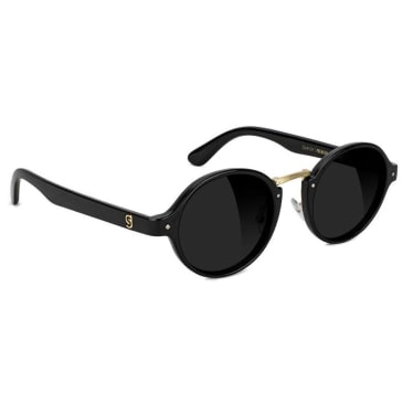 Glassy P Rod Premium Polarised Sunglasses - Black / Gold