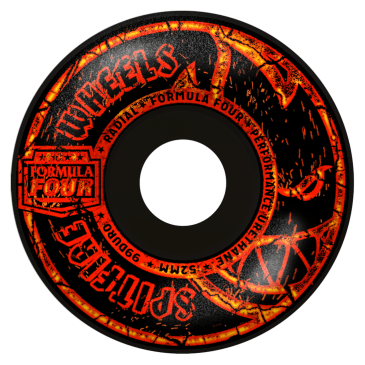 Spitfire Formula Four Embers 52mm 99A Radial Wheels (Black)