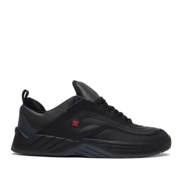 DC Williams Slim S Skate Shoes - Black / Grey / Athletic Red
