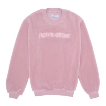 Fucking Awesome Pile Polar Fleece Crewneck - Pink