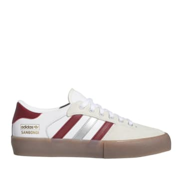 adidas Skateboarding Matchbreak Super Shin Sanbongi Shoes - FTWR White / Collegiate Burgundy / Gum 4