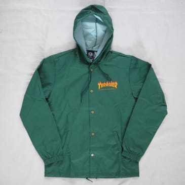 Thrasher - Flame Logo Hooded Coach Jacket