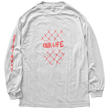 Our Life Skateboards Fenced In Long Sleeve Silver Shirt