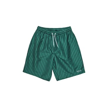 Polar Skate Co Stripe Swim Shorts - Dark Green