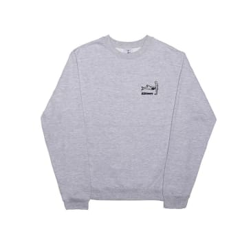 Alltimers Shark Dick Crewneck - Heather Grey
