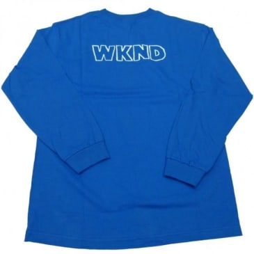 WKND Borderline Long Sleeve T-shirt - Royal Blue