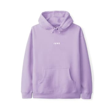 June - PUFF! Youth Hoodie - Purple, White