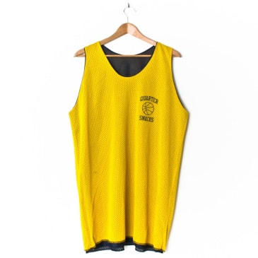 Quartersnacks Reversible Pick Up Jersey Navy/Yellow