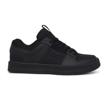 DC Shoes Lynx Zero Leather Skate Shoes - Black / Black / Black
