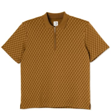 Polar Skate Co Zip Pique Shirt - Golden Brown