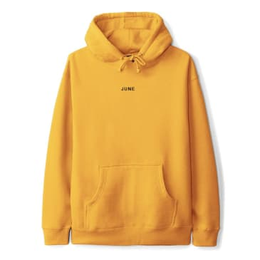 June - Classic Text Mens Hoodie - Yellow