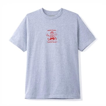 June - Coffee, to go! Mens Tee - Grey, Red