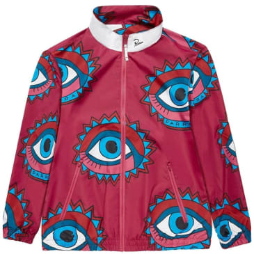 by Parra Eyes open Track Top - Sangria / White