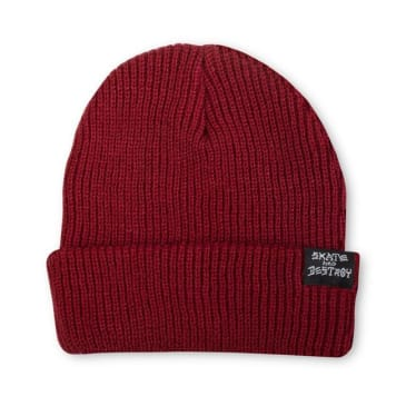 Thrasher Skategoat / Skate And Destroy Beanie (Maroon)