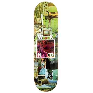 WKND - Green Logo Collage Skateboard Deck - 8.25"