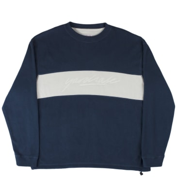Yardsale Embossed Fleece Sweatshirt - Navy / White