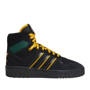 adidas Skateboarding Rivalry Hi OG x Na-Kel Shoes - Core Black / Collegiate Gold / Collegiate Green