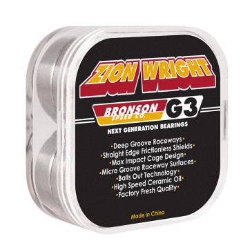 Bronson Speed Co. Zion Wright G3 Skateboard Bearings 8 Pack